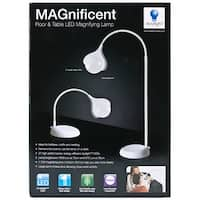 MAGnificent Floor/Table LED Magnifying Lamp-White - White