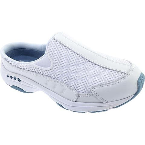 01825e0ef835 Easy Spirit Women s Traveltime Slip-on White Light Blue Leather