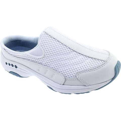 682de4314 Easy Spirit Women s Traveltime Slip-on White Light Blue Leather