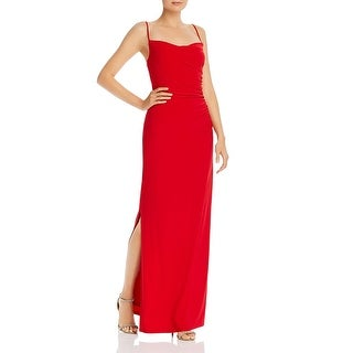 Link to Laundry by Shelli Segal Womens Evening Dress Ruched Jersey - Red Similar Items in Dresses