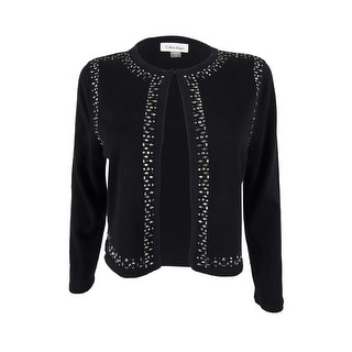 Calvin Klein Women's Embellished Cropped Cardigan Bolero Sweater