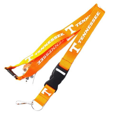 Tennessee Volunteers Vols Lanyard Keychain Id Ticket - Yellow