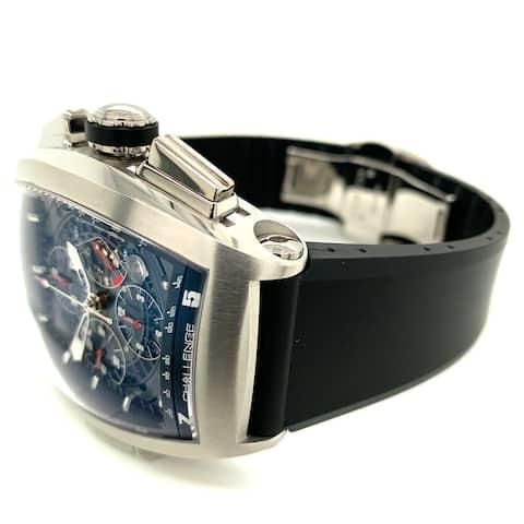 Cvstos Men's 8002CHTAC 01 'Challenge GT' Black Skeleton Dial Black Rubber Strap Chronograph 2 Day Power Reserve Automatic Watch