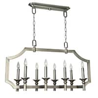 Craftmade 37378 Lisbon 8 Light Linear Chandelier - 37 Inches Wide