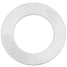 Sterling Silver Blank Stamping Circle Donut Pendant 26mm (1)