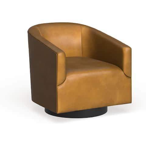 Gilbert Wood Base Swivel Chair by Greyson Living