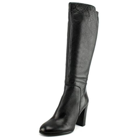 Kenneth Cole New York Womens Justin Leather Closed Toe Knee High Fashion Boots - 5