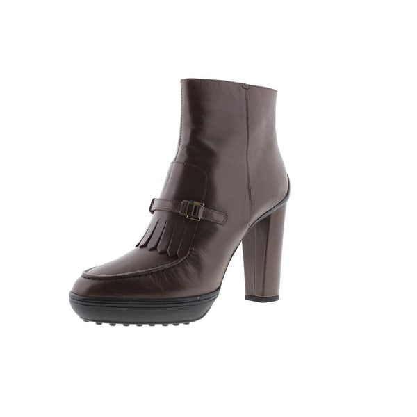 Tods Womens Ankle Boots Leather Kiltie - 39.5