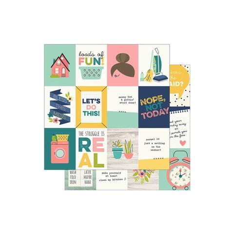 7810 simple stories domestic bliss paper 12x12 elem 3x4