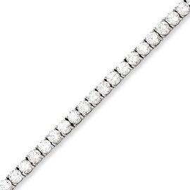Stainless Steel CZ 7.5in Bracelet