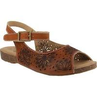 L'Artiste by Spring Step Women's Shiela Slingback Camel Leather