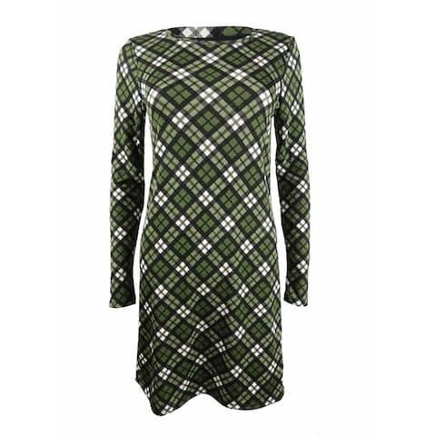 Michael Michael Kors Women's Plaid T-Shirt Dress