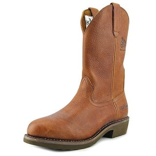 "Georgia Boot 11"" Wellington Men W Round Toe Leather  Work Boot"