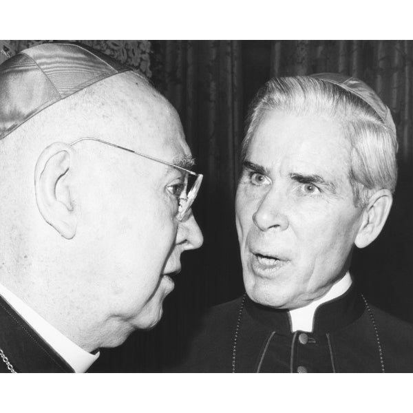 Art print POSTER Sheen CANVAS Francis Cardinal Spellman and Bishop Fulton J