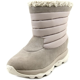 Skechers Ultra Bounce Women Round Toe Suede Ivory Winter Boot