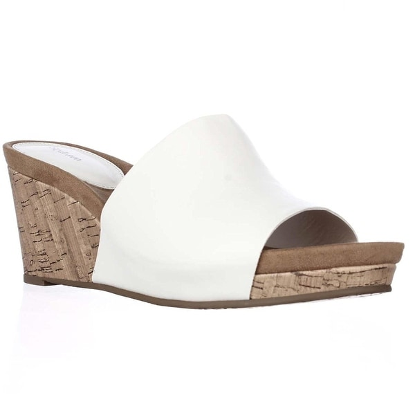 Style Co. Jackeyy Wrapped Platform Wedge Mules Sandals - 5.5 b(m)