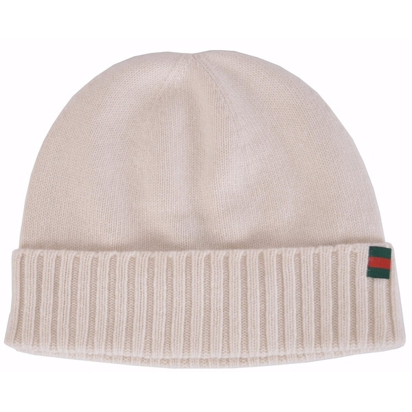 d99ac3a1e5def Shop Gucci Men s 284587 Maglia 100% Cashmere Web Stripe Knit Beanie Hat S -  Free Shipping Today - Overstock - 12036830