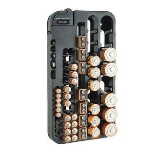 Battery Organizer Storage Case with Tester