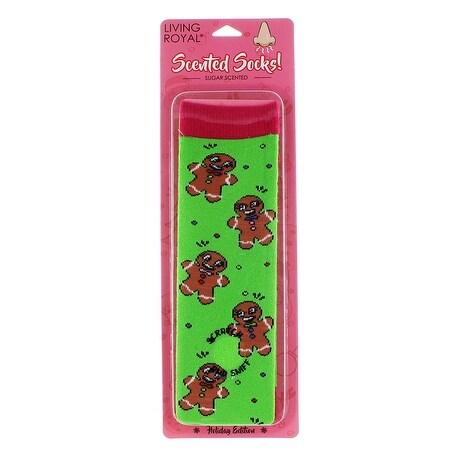 Gingerbread Sugar Scented Socks - Green