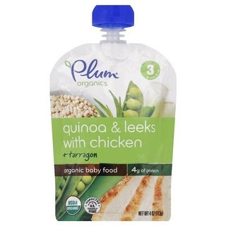 Plum Organics - Quinoa & Leeks With Chicken Baby Food ( 6 - 4 OZ)