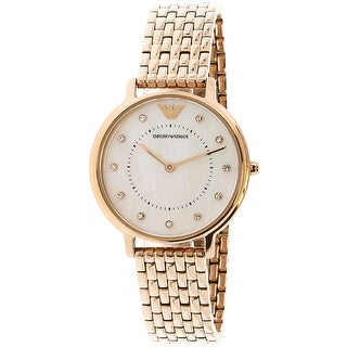 Emporio Armani Women's AR11006 Rose-Gold Stainless-Steel Fashion Watch
