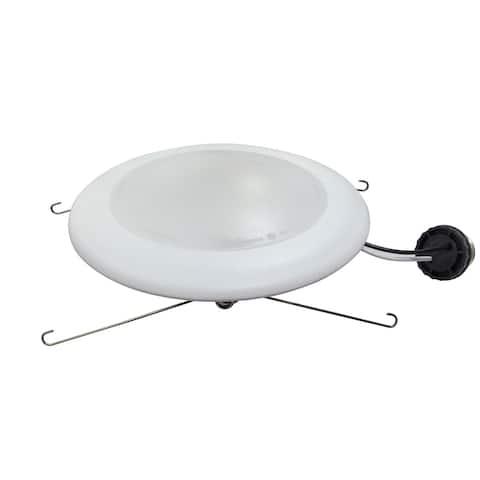 Cedar Hill 7.5-in White Integrated LED Disk Light - 7.5