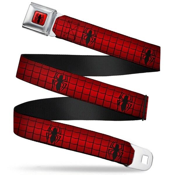 Ultimate Spider Man Spider Logo2 Full Color Red Black Spider Logo2 Web Red Seatbelt Belt