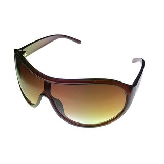 Kenneth Cole Reaction Sunglass Chocolate Brown Shield,Gradient Lens KC1214 50F - Medium