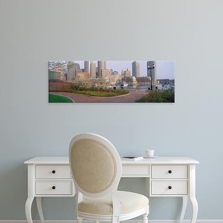 Easy Art Prints Panoramic Images's 'Buildings in a city, Boston, Massachusetts, USA' Premium Canvas Art