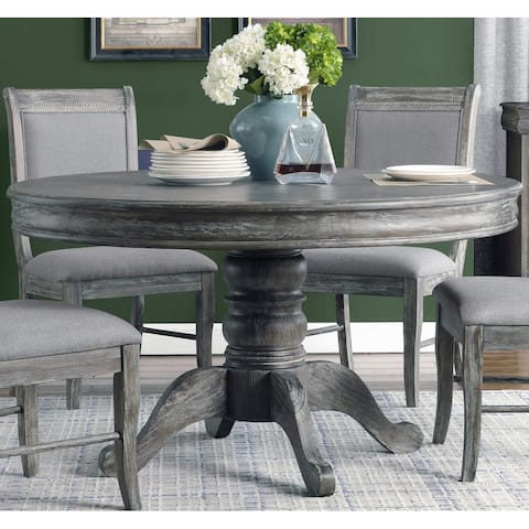 Darcy Weathered Ash Pedestal Round Dining Table