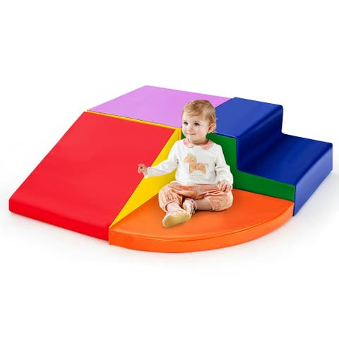 4-Piece Indoor Toddler Playtime Corner Climber Play Set-Multicolor - Multi