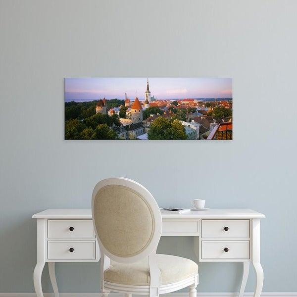 Easy Art Prints Panoramic Images's 'High angle view of a city, Tallinn, Estonia' Premium Canvas Art