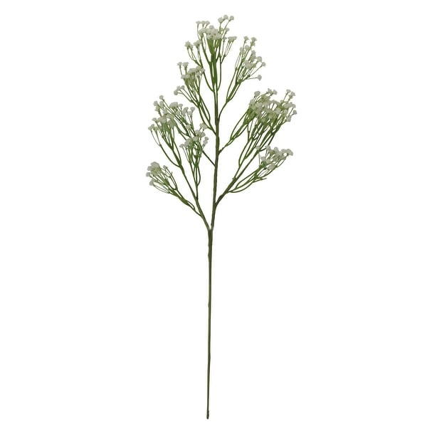 """24"""" Dove White and Green Gysophila Artificial Stemmed Flower Spray - N/A"""