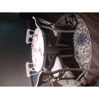 "Safavieh Madison Belle Paisley Boho Glam Cream/ Light Grey Rug - 6'7"" Round"