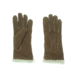 Isotoner Womens Winter Gloves Leather Microluxe Lining - M