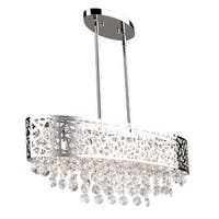 "Artcraft Lighting AC11074 Celestial 5-Light 30"" Wide Linear Chandelier - Chrome - N/A"