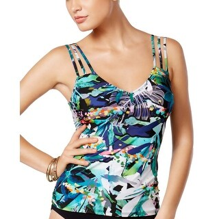 Profile by Gottex Womens V Back Tankini Top 8 Tropical Dawn Swimsuit