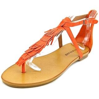 Lucky Brand Wekka Open Toe Suede Thong Sandal