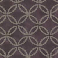 Brewster HZN43123 Cloverleaf Purple Geometric Wallpaper - purple geometric - N/A
