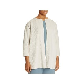 Eileen Fisher Womens Plus Long Coat Silk Quilted - 3x