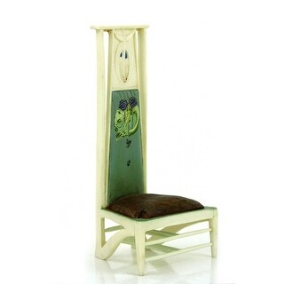 """Take a Seat By Raine Willitts Linear Elegance Mini Chair Figurine Art Nouveau - Green - 4"""" height"""