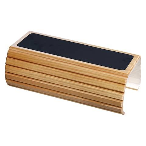 Wood Flexi Sofa Arm Rest Table - Honey - Brown