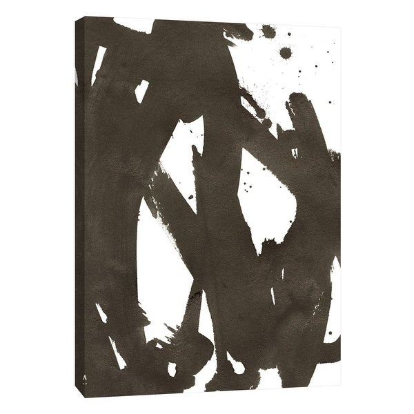 """PTM Images 9-108592 PTM Canvas Collection 10"""" x 8"""" - """"Composition in Black and White 15"""" Giclee Abstract Art Print on Canvas"""