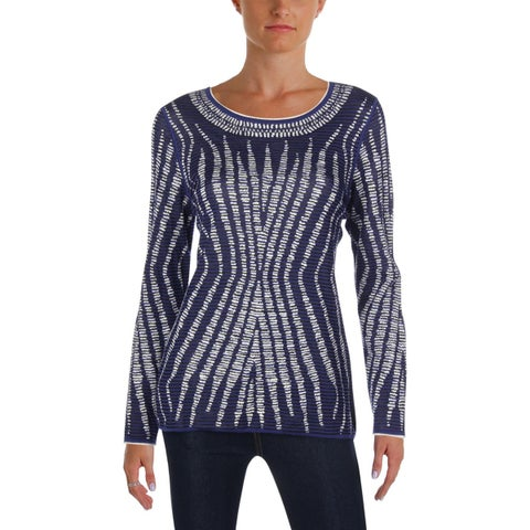 Nic + Zoe Womens Going In Pullover Top Reversible Printed