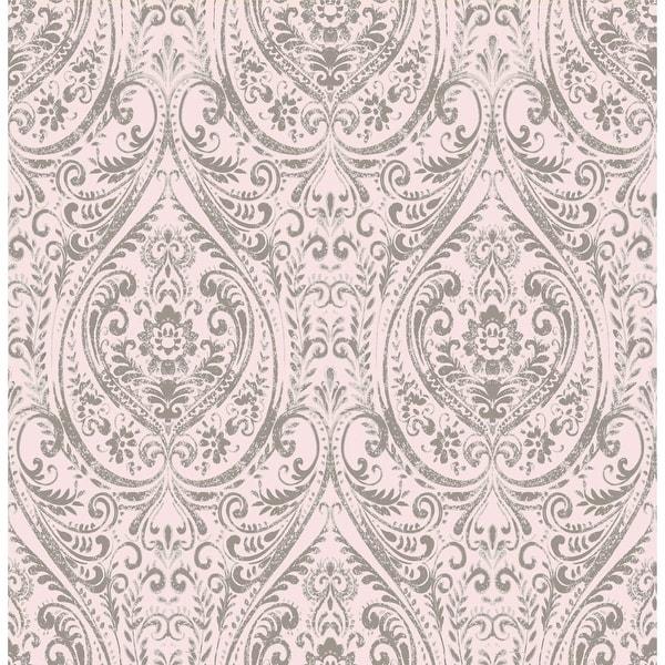 Brewster 1014-001869 Gypsy Light Pink Damask Wallpaper - gypsy light pink - N/A