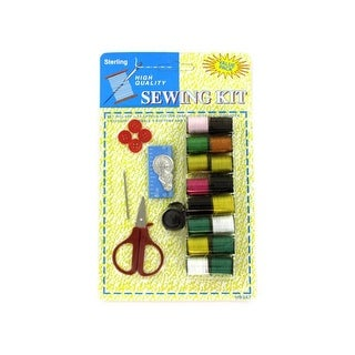 All-in-One Sewing Kit on Blister Card with Hanging Hole - Pack of 72