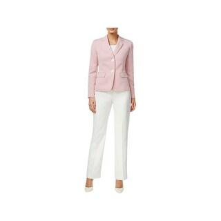 Le Suit Womens Nantucket Pant Suit 2-Button Contrast Blazer - 10