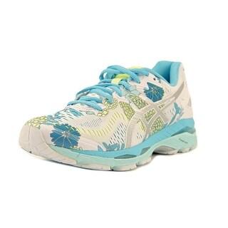 Asics Gel Kayano 23 Women White/Silver/Aquarium Running Shoes