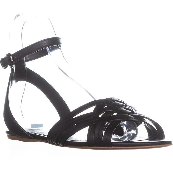 Coach Summers Ankle Strap Slide Sandals, Black - 9.5 us