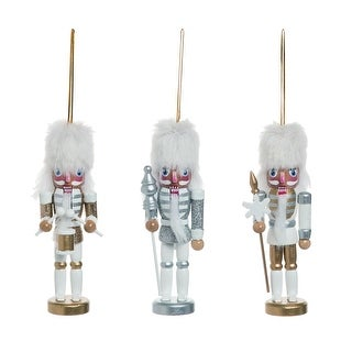 """Link to Set of 3 White Whimsical Nutcracker Christmas Ornaments 5"""" Similar Items in Christmas Decorations"""